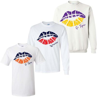 Basketball Lips Graphic Tee Shirt