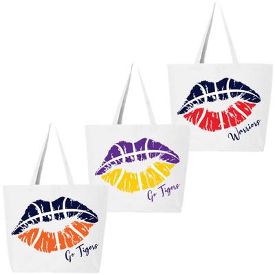 Customized Basketball Lips Tote Bag