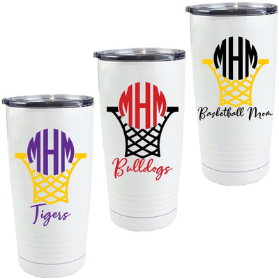 Personalized Basketball Net Stainless Steel Tumbler