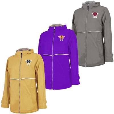 Monogrammed Embroidered Basketball Net Charles River Rain Jacket