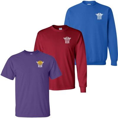 Monogrammed Embroidered Basketball Net Tee Shirt