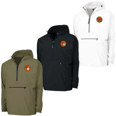 Embroidered Basketball Charles River Pack N Go Pullover