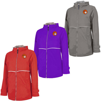Monogrammed Embroidered Basketball Charles River Rain Jacket