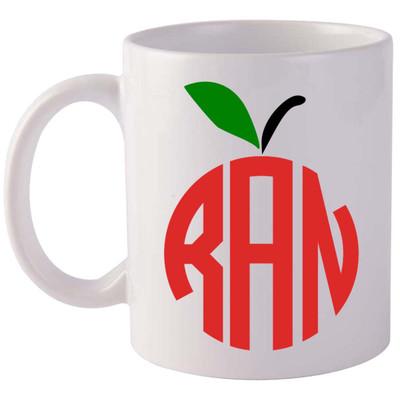 Monogrammed Apple Coffee Mug