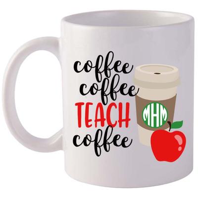Monogrammed Coffee Coffee Teach Coffee Coffee Mug