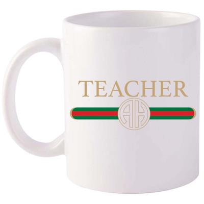 Monogrammed Designer Teacher Coffee Mug