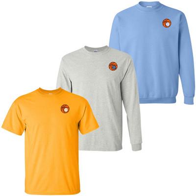 Monogrammed Embroidered Basketball Tee Shirt