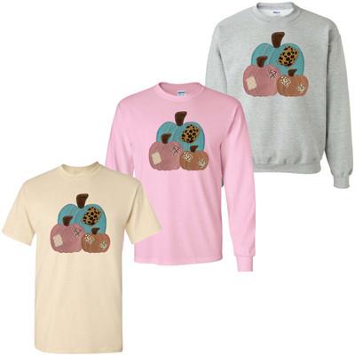 Patchwork Pumpkins Graphic Tee Shirt