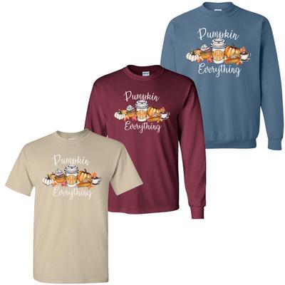 Monogrammed Pumpkin Everything Graphic Tee Shirt