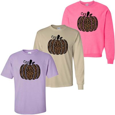 Leopard Pumpkin Graphic Shirt