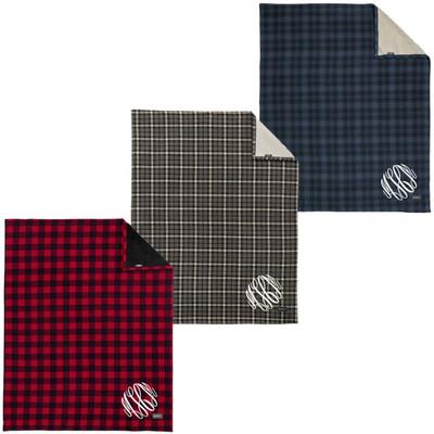 Monogrammed Eddie Bauer Woodland Plaid Blanket