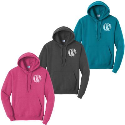 Monogrammed Core Fleece Hooded Sweatshirt