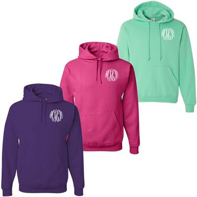 Monogrammed Hooded Sweatshirt Pullover