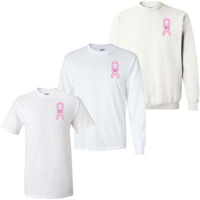 Monogrammed Breast Cancer Ribbon Graphic Shirt