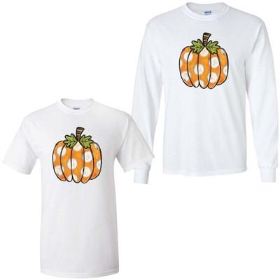 Polka Dot Pumpkin Graphic Shirt - White