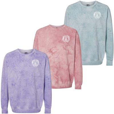 Monogrammed Comfort Colors Colorblast Sweatshirt