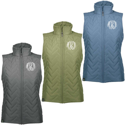 Monogrammed Repreve Quilted Vest