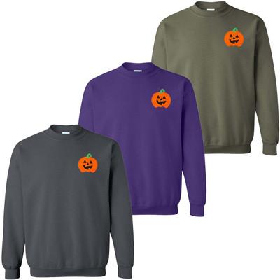 Embroidered Jack O Lantern Pumpkin Sweatshirt