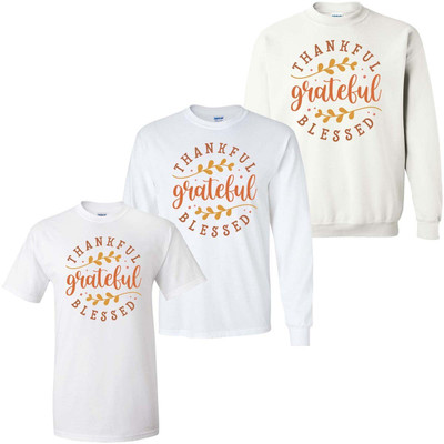 Thankful Grateful Blessed Graphic Shirt