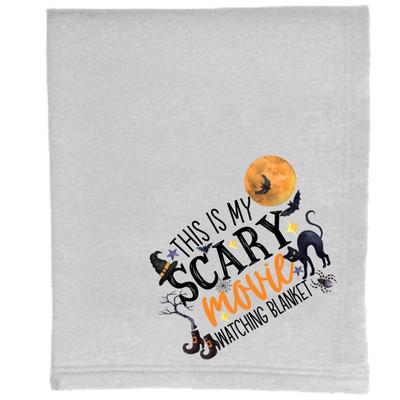 This Is My Scary Movie Watching Blanket Sweatshirt Blanket