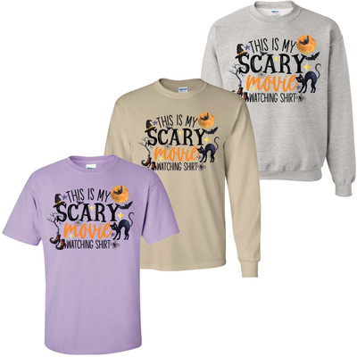 This Is My Scary Movie Watching Shirt Graphic Tee Shirt