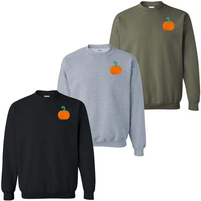 Embroidered Pumpkin Sweatshirt