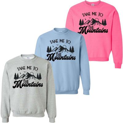 Take Me To The Mountains Graphic Sweatshirt