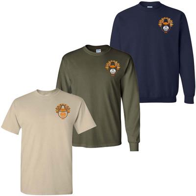 Monogrammed Embroidered Turkey Shirt