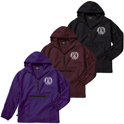 Monogrammed Youth Pack-N-Go Pullover
