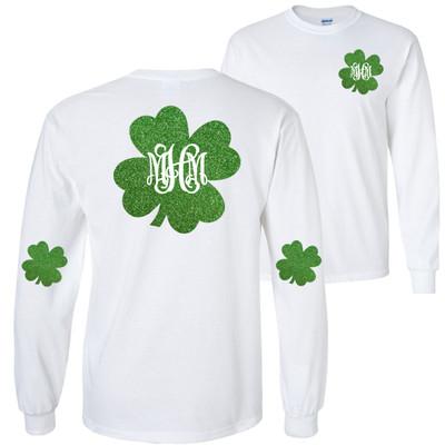 Monogrammed St Patricks Day T-Shirt - White