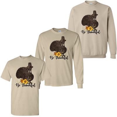 Be Thankful Turkey Shirt - Sand