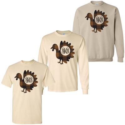 Monogrammed Buffalo Plaid Turkey Shirt