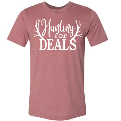Hunting For Deals Bella Canvas Tee - Heather Mauve