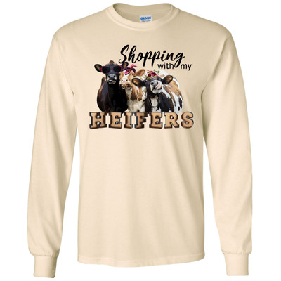 Shopping With My Heifers T-Shirt - Natural
