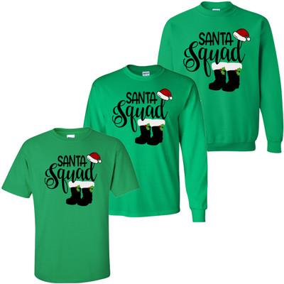 Santa Squad Shirt - Irish Green