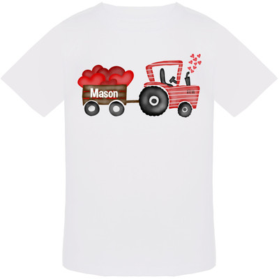 Personalized Valentine Tractor Graphic Tee