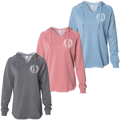 Monogrammed Hooded Pullover Sweatshirt