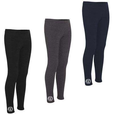 Monogrammed Full Length Leggings