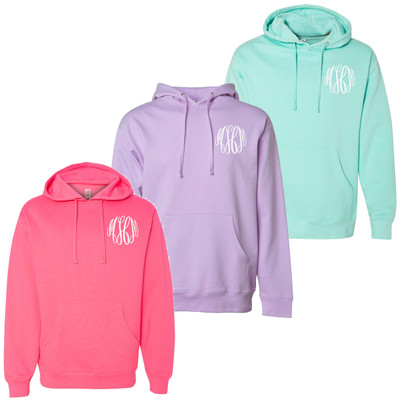Monogrammed Midweight Hooded Pullover