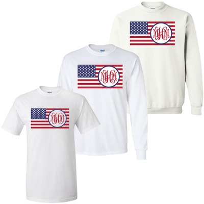 Monogrammed Flag Graphic Tee