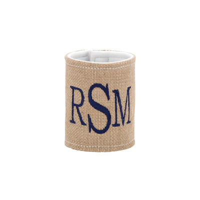 Personalized Coozie - Burlap