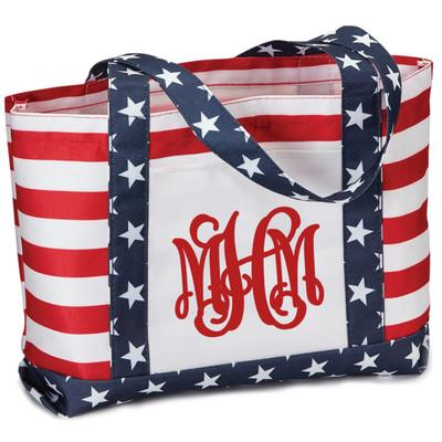 Monogrammed Americana Tote Bag