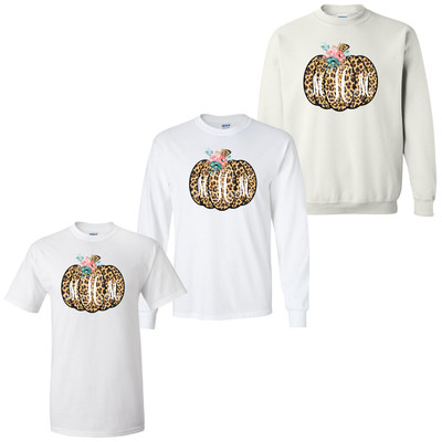 Personalized Leopard Pumpkin Graphic Tee
