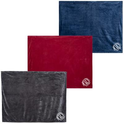 Monogrammed Alpine Fleece Mink Blanket