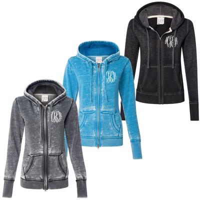 Monogrammed Ladies Zen Fleece Full-Zip Hooded Sweatshirt