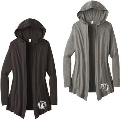 Monogrammed Ladies Hooded Cardigan