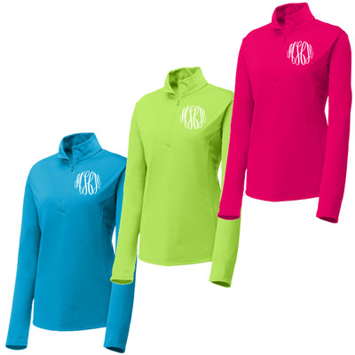 Monogrammed Ladies PosiCharge Competitor 1/4-Zip Pullover