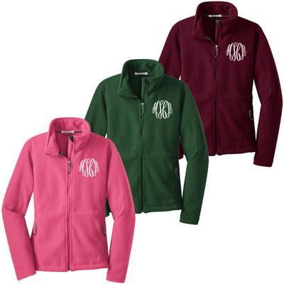 Monogrammed Ladies Fleece Jacket