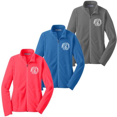 Monogrammed Ladies Microfleece Jacket