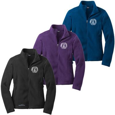 Monogrammed Ladies Eddie Bauer Full Zip Fleece Jacket